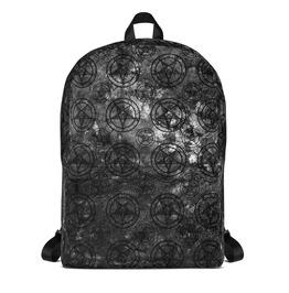 Grey Splatter Pentagram Backpack