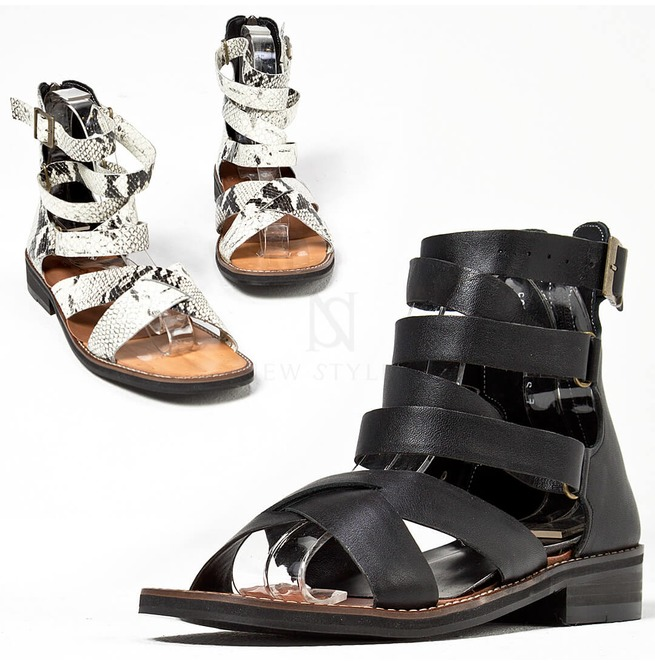 2c9bd4b39e5 Buckled Modern Gladiator Sandals 439