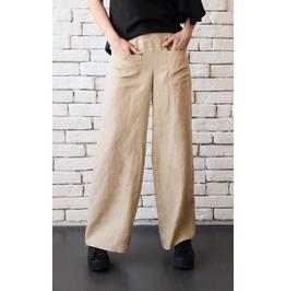 Beige Linen Pants/Maxi Pants/Linen Long Trousers/Wide Leg Plus Size Pants