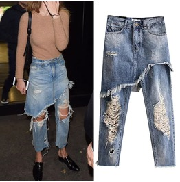Boyfriend Slim Ripped Women Jeans