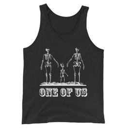 One Of Us Skeleton Tank Top Black