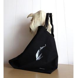 Bat Tote Bag Screen Printed