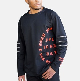 Gothic Streetwear Zippers Men Sweatshirt