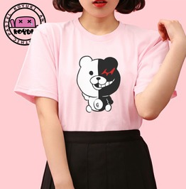 Monokuma Danganronpa Chibi Version Tshirt Pink