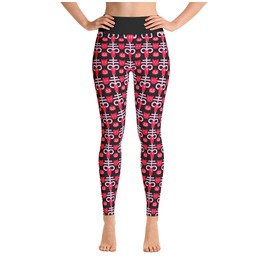 Pink Halloween Yoga Leggings