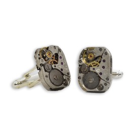 1 Pair Gentlemans Steampunk Watch Movement Cufflinks. Hand Made In Cornwall
