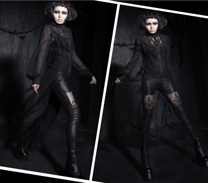 gothic visual kai leggings