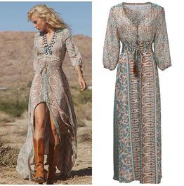 Bohemian Chiffon Women Maxy Dress