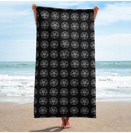 Black And White Pentagram Towel