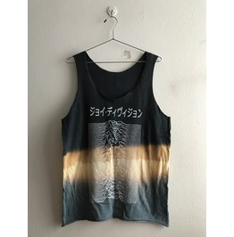 Joy Division Japanese Text Punk Rock Tie Dye Vest Tank Top