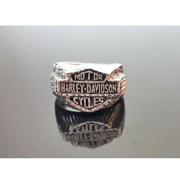 Rebelsmarket 925 sterling silver motor harley davidson eagle wolf biker rocker ring rings 7