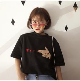 Hearts Gun T Shirt / Camiseta Pistola Corazones Wh236