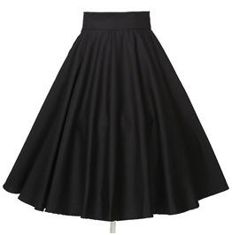 Women's High Waist Drape Circle Skirt
