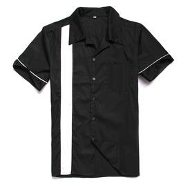Men's Fashion Colorblock Color Short Sleeve Shirt