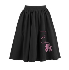 Women's Dog Embroideried Circle Skirt