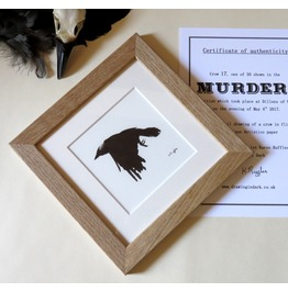 Murder ! Limited Edition Crow Drawing With Signed Certificate.