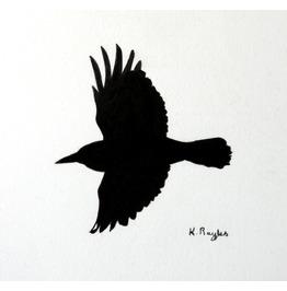 Original Charcoal Drawing, Crow 13