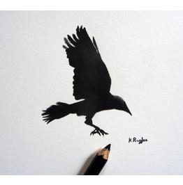 Original Charcoal Drawing, Rook 5