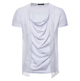 Men's Heap Collar Mesh T Shirt