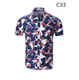Men's Fashion Printed Leisure Short Sleeve Shirt