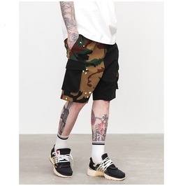Men's Fashion Camouflage Printed Colorblock Shorts