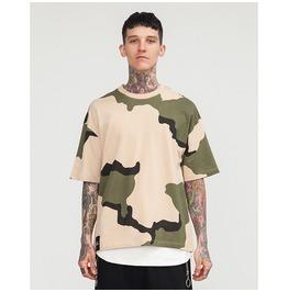 Men's O Neck Camouflage Oversize T Shirt