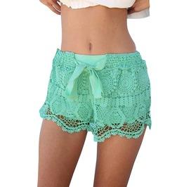 Streetwear Women's Hollow Out Drawstring Shorts