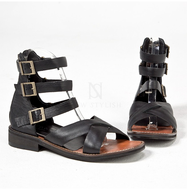 ce4a0e31ff4 Triple Belted Modern Gladiator Sandals 443