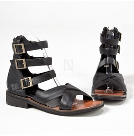 Triple Belted Modern Gladiator Sandals 443