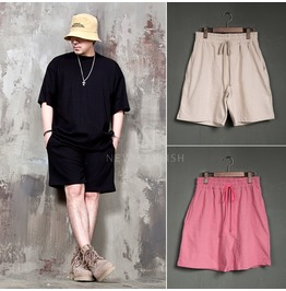 Plain Loose Sweat Shorts 93