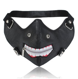 Unisex's Punk Rivets Half Face Mask Steampunk Mask