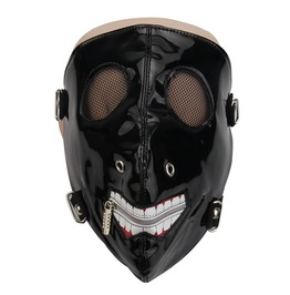Unisex's Punk Skull Mesh Phantom Half Face Masquerade Mask