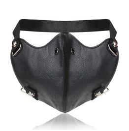 Unisex's Punk Faux Leather Cool Half Face Mask