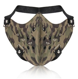 Unisex's Half Face Mask Rivets Punk Camouflage Mask