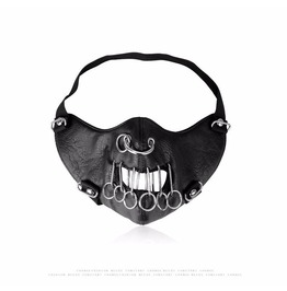 Unisex's Punk Polycyclic Deco Faux Leather Mask