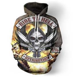 Ride To Hell Motorcycle Retribution 3 D Men Hoodies