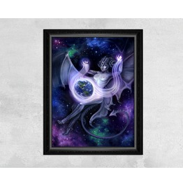 Otherworldly Space Faerie Casting A Spell On Earth Print