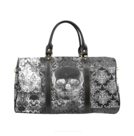 Shabby Chic Skull Waterproof Travel Bag