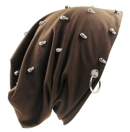 Unisex Hip Hop Skull Studded Skullies 5 Colors