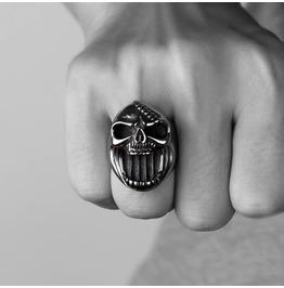 Mens Titanium Stainless Steel Ring Skull Bottle Opener