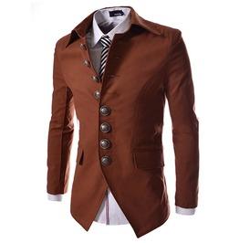 Steampunk Vintage Single Breasted Blazer Men Jacket