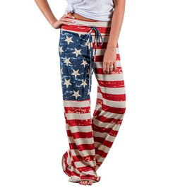 Streetwear Women's American Flag Print Long Pants