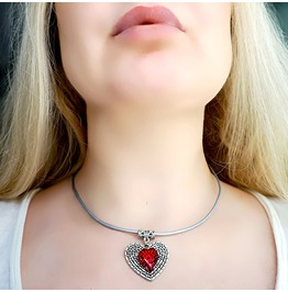 Submissive Day Collar Bdsm Necklace Heart Pendant Leather Choker Dominant
