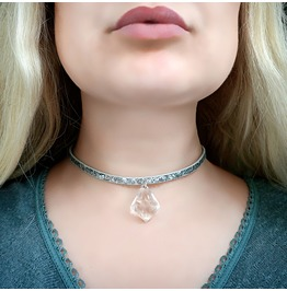 Bdsm Jewelry Submissive Day Collar Leather Choker Psychedelic Necklace Sub