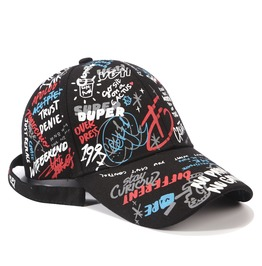 Graffiti Baseball Cap Men And Women Strap Summer Shading Outdoor Sports Hat