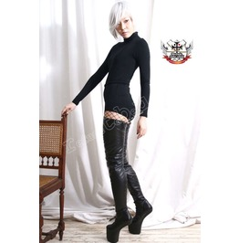 Light Hoof Heelless No Heel Knee/Thigh/Crotch Boot Vegan Synthetic Leather