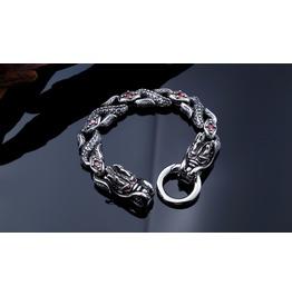 316 L Stainless Steel Vintage Double Side Dragon Head Bracelet