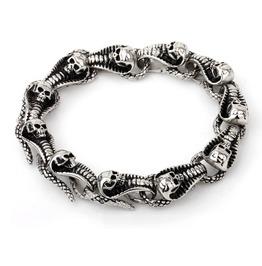 316 L Stainless Steel Vintage Skull Cobra Bracelet
