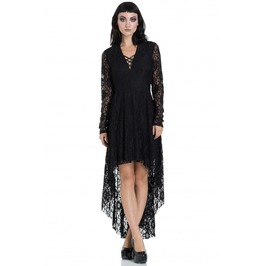 Jawbreaker Clothing Black Lace High Low Dress