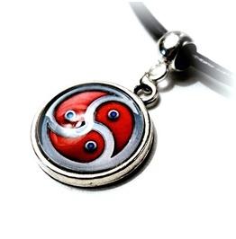 Submissive Collar Bdsm Symbol Triskele Triskelion Necklace Domina Pendant